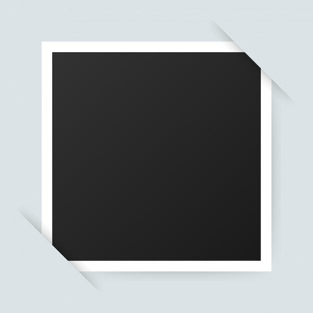 Diseño de marco de foto vectorial. fotografía realista con espacio en blanco para la imagen. .