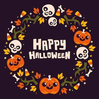 Diseño del marco de halloween