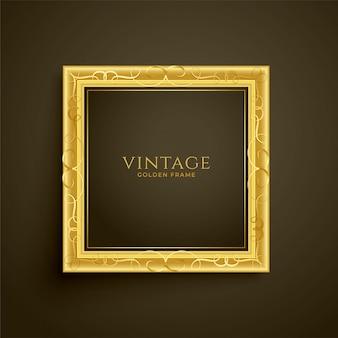 Diseño de marco de lujo vintage dorado