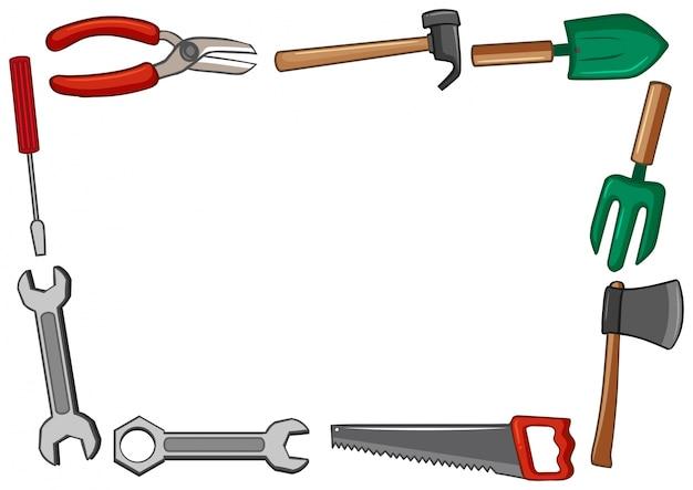 Diseño de marco con muchas herramientas