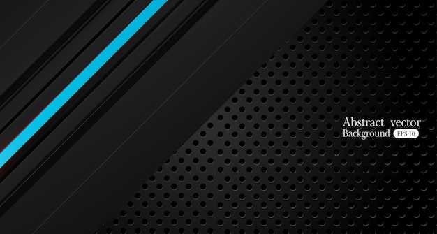 Diseño de marco negro azul metálico abstracto