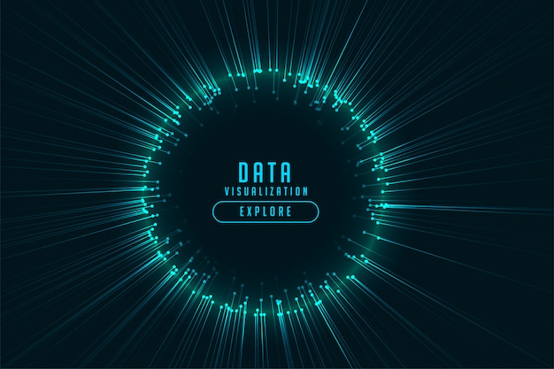 Diseño de marco de rayos brillantes de tecnología digital