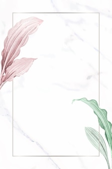 Diseño de marco rectangular botánico