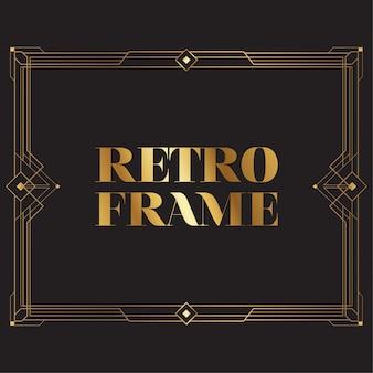 Diseño de marco retro