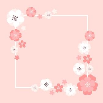 Diseño de marco de sakura