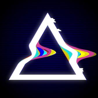 Diseño de marco de triángulo glitched