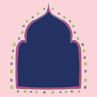 Diseño de marco de vector de rangoli indio diwali