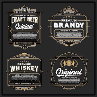 Diseño del marco del vintage para las etiquetas, la bandera, la etiqueta engomada y el otro diseño. conveniente para el whisky, la cerveza y el producto superior.
