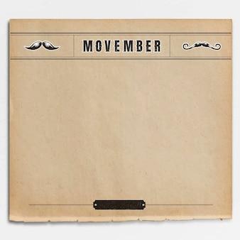 Diseño de marco vintage movember