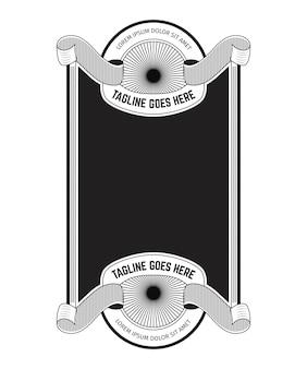 Diseño de marco vintage