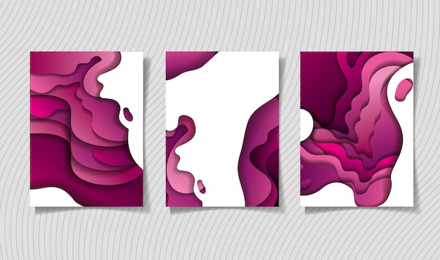Diseño de marcos de fondos de ondas púrpuras