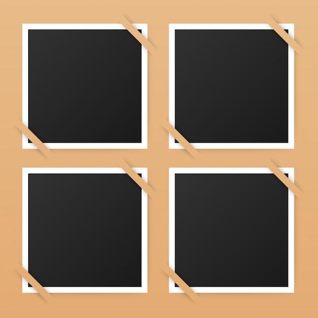 Diseño de marcos de fotos. fotografía realista con copyspace para tu imagen.