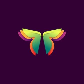 Diseño de mariposa colorida
