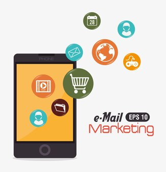Diseño de marketing, ilustración vectorial.