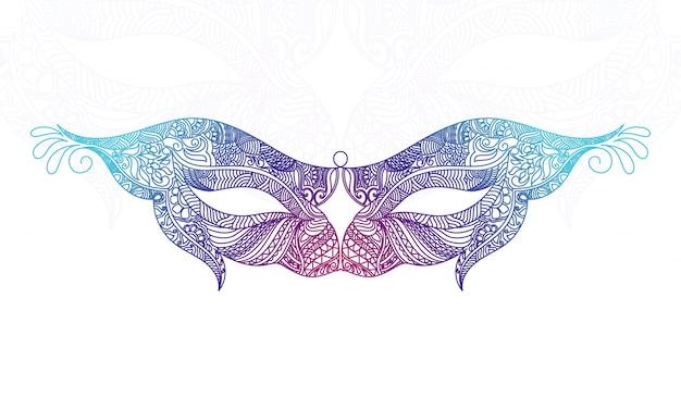 Diseño de máscara ornamental bonita