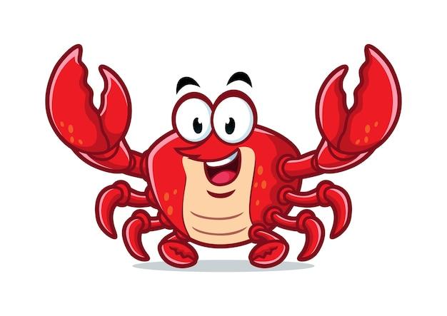 Diseño de la mascota del cangrejo