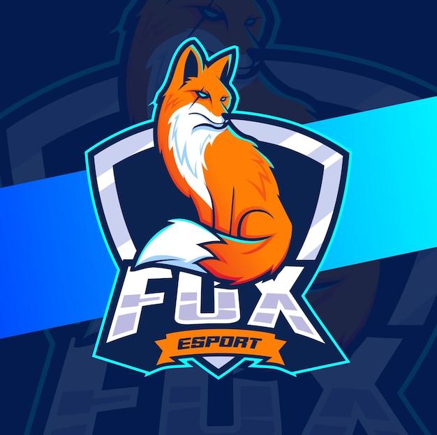 Diseño de mascota fox para el logotipo de deportes y juegos