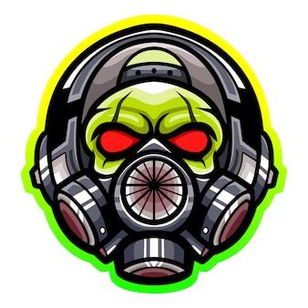 Diseño de mascota de logotipo de esport tóxico