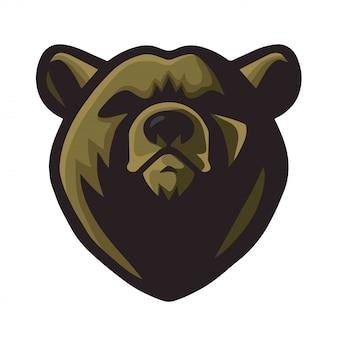 Diseño de la mascota del logotipo del oso