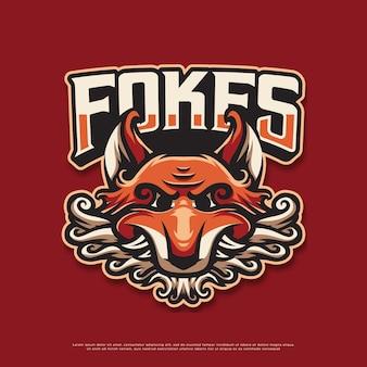 Diseño de la mascota del logotipo del zorro