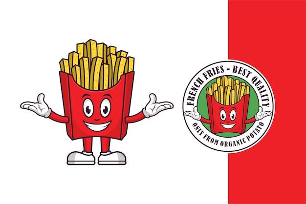 Diseño de mascota de papas fritas