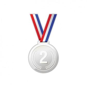 Diseño de medalla de plata