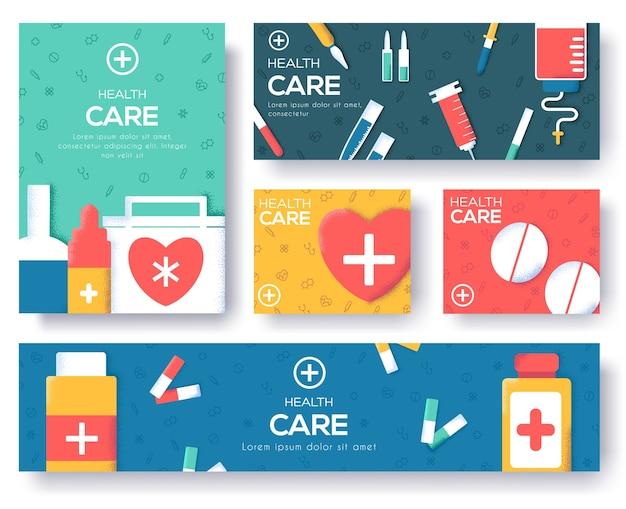 Diseño de medicina página deslizante moderna