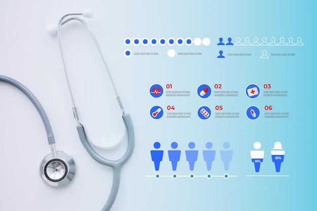 Diseño médico infografía con foto