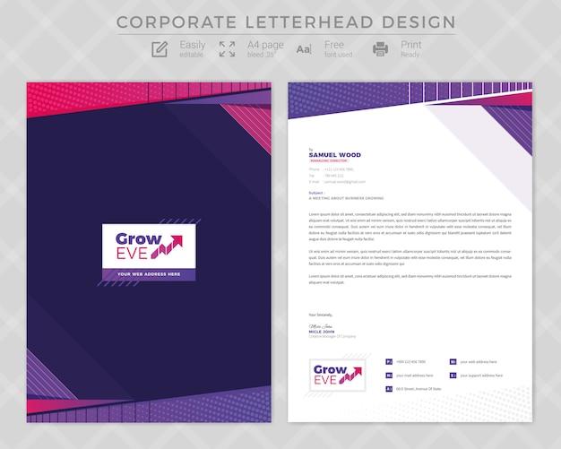 Diseño de membrete corporativo