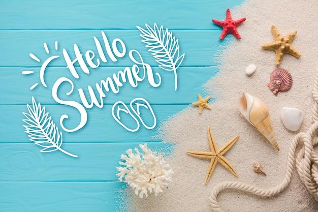 Diseño de mensaje de letras de verano