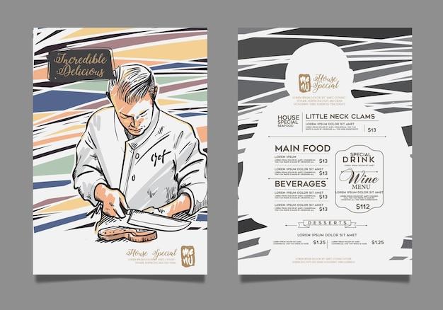 Diseño de menú creativo.