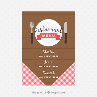 Diseño de menú en estilo retro
