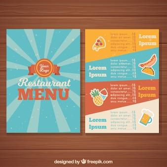 Diseño de menú en estilo vintage