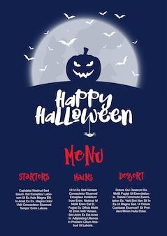 Diseño de menú de halloween