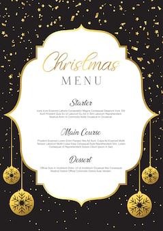 Diseño de menú de navidad