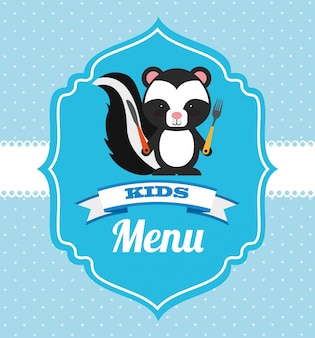 Diseño de menú para niños