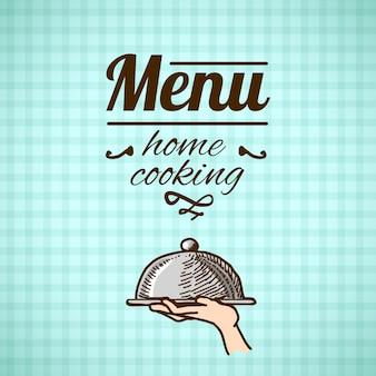 Diseño del menú del restaurante boceto