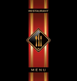 Diseño del menú del restaurante.