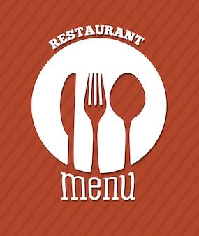 Diseño de menú sobre fondo lineal ilustración vectorial