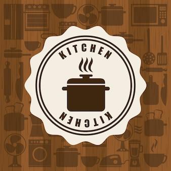 Diseño de menú sobre ilustración de vector de fondo de patrón
