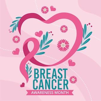 Diseño del mes de concientización sobre el cáncer de mama