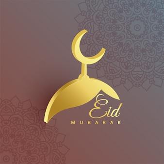 Diseño de la mezquita 3d para el festival eid