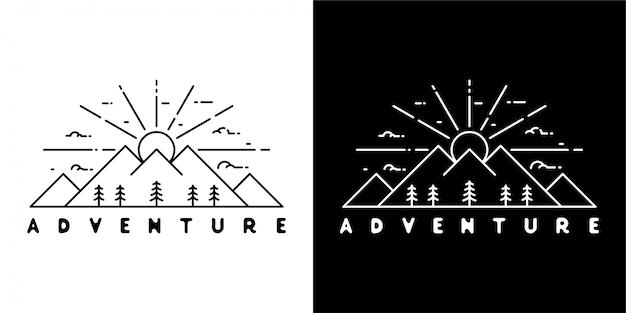 Diseño minimalista de aventura