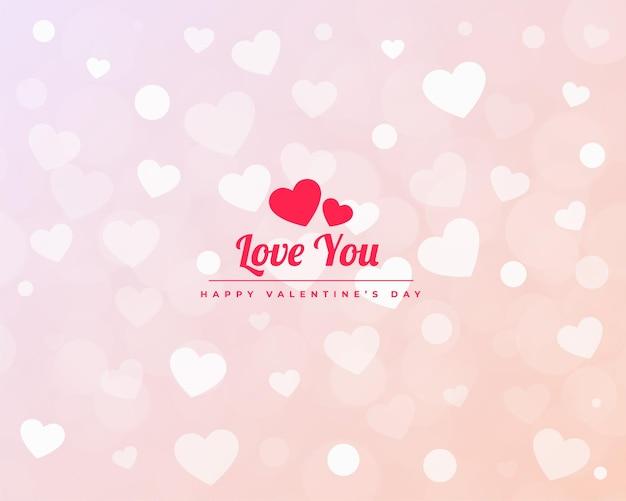 Diseño minimalista de baner de patrón de corazones de san valentín