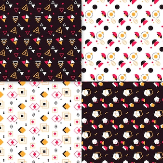 Diseño minimalista de colección de patrones geométricos