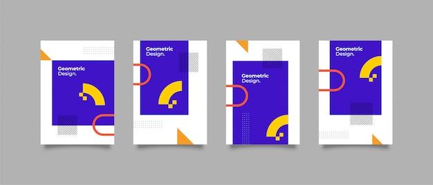 Diseño minimalista de la cubierta de memphis