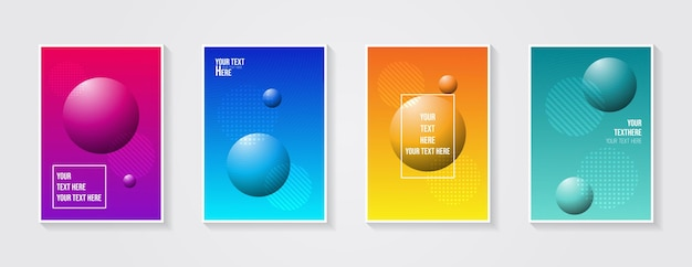 Diseño minimalista de la cubierta moderna gradientes coloridos dinámicos patrones geométricos futuros