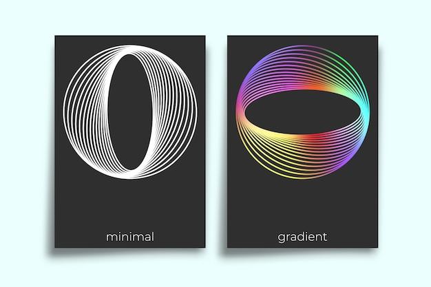 Diseño minimalista geométrico abstracto de la textura del gradiente para el fondo