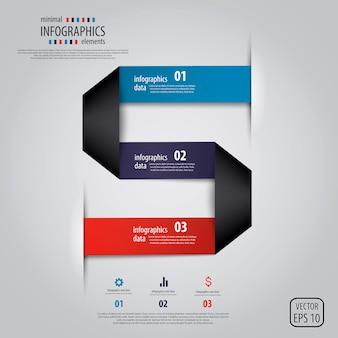 Diseño minimalista de infografías.