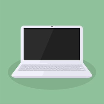 Diseño minimalista portátil blanco